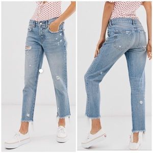 Free People Good Times Relax Ankle Skinny Jeans